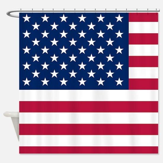 Patriotic American Flag Shower Curtain