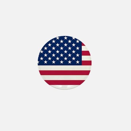 Patriotic American Flag Mini Button (10 pack)