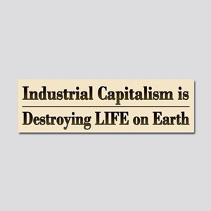 End Industrial Capitalism - Car Magnet 10 X 3