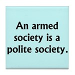 Armed Society Tile Coaster