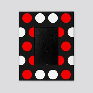 Red And White Polka Dots Picture Frame