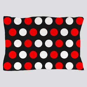 Red And White Polka Dots Pillow Case