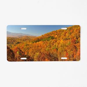 Bright Autumn Day Aluminum License Plate