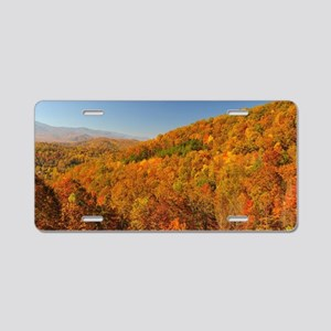 Bright Autumn Day Aluminum License Plate