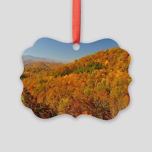 Bright Autumn Day Picture Ornament