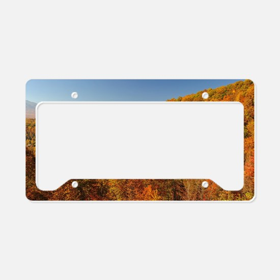 Bright Autumn Day License Plate Holder
