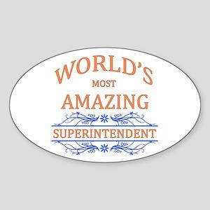 Superintendent Sticker (Oval)