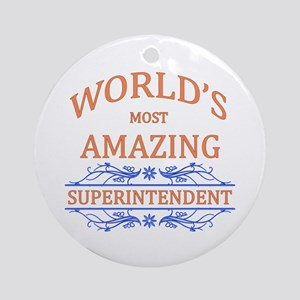 Superintendent Ornament (Round)