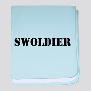 Swoldier baby blanket