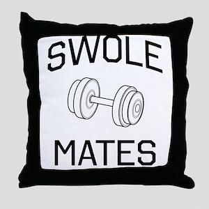 Swole mates Throw Pillow