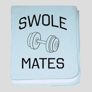Swole mates baby blanket