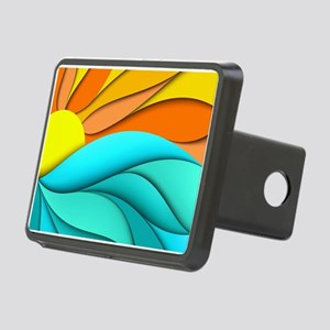 Abstract Ocean Sunset Rectangular Hitch Cover