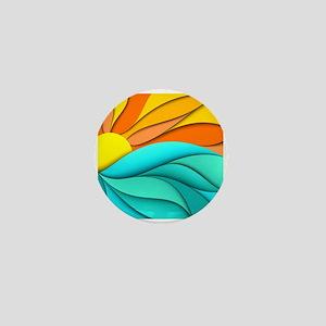 Abstract Ocean Sunset Mini Button