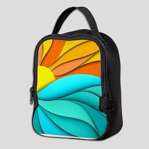 Abstract Ocean Sunset Neoprene Lunch Bag