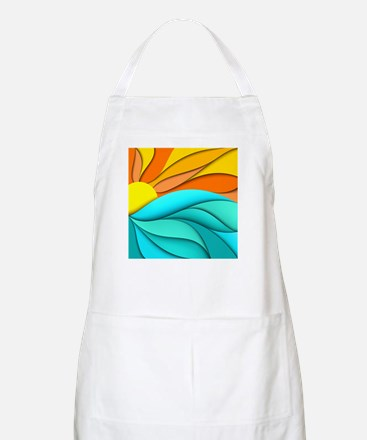 Abstract Ocean Sunset Apron