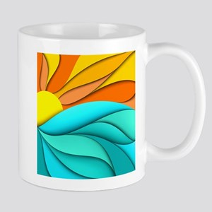 Abstract Ocean Sunset Mug