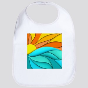 Abstract Ocean Sunset Bib