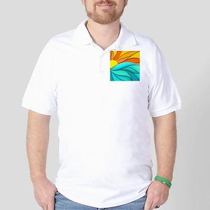 Abstract Ocean Sunset Golf Shirt