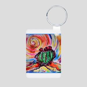 Cactus, colorful desert art, Keychains