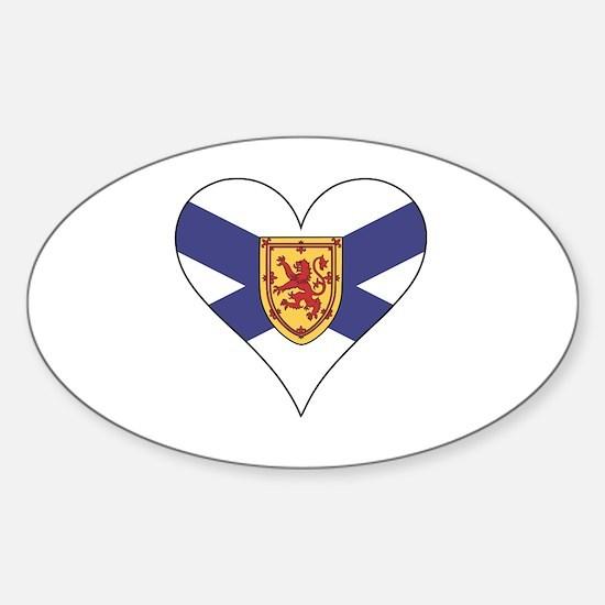Love Nova Scotia Sticker (Oval)