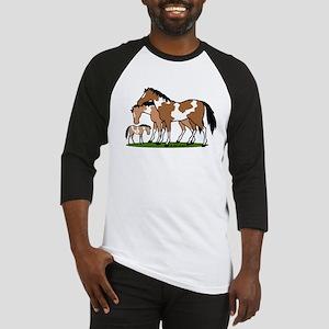 Happy Indian Horses Baseball Tee