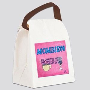 Mombie Art Canvas Lunch Bag
