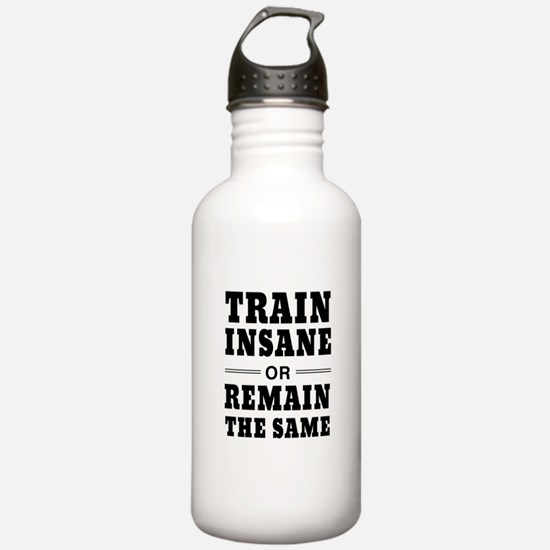 Train insane or remain same Water Bottle