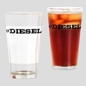 Diesel Hashtag Drinking Glass