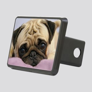 Pug Puppy Rectangular Hitch Cover