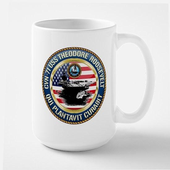 CVN-71 USS Theodore Roosevelt Large Mug
