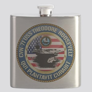 CVN-71 USS Theodore Roosevelt Flask