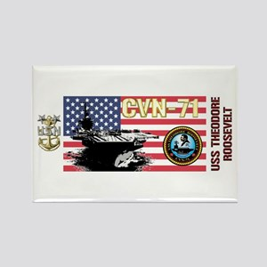 CVN-71 USS Theodore Roosevelt Rectangle Magnet