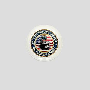 CVN-71 USS Theodore Roosevelt Mini Button