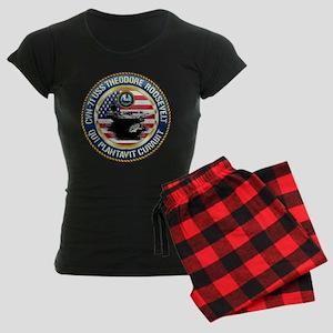 CVN-71 USS Theodore Roosevel Women's Dark Pajamas
