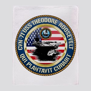 CVN-71 USS Theodore Roosevelt Throw Blanket