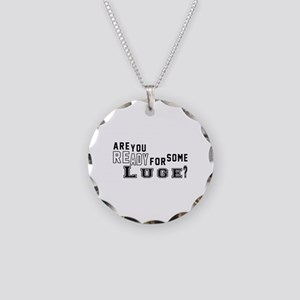 Are You Ready For Some Luge Necklace Circle Charm