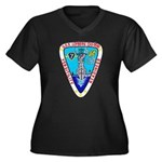 USS LOFBERG Women's Plus Size V-Neck Dark T-Shirt