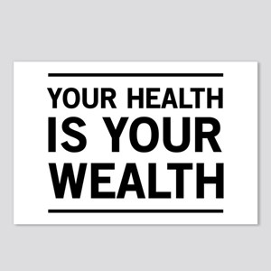 Your health is your wealth Postcards (Package of 8