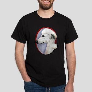 White Whippet Santa Dark T-Shirt