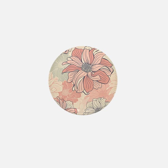 Vintage Floral Mini Button