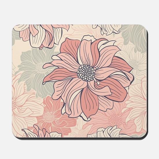 Vintage Floral Mousepad