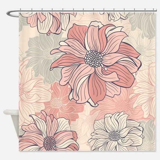 Vintage Floral Shower Curtain