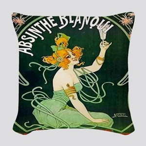 Absinthe Woven Throw Pillow