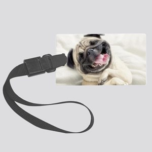Pug Puppy Large Luggage Tag