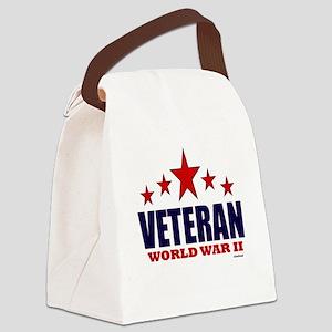 Veteran World War II Canvas Lunch Bag