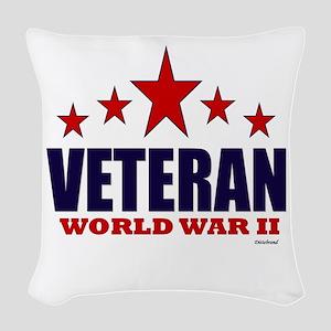Veteran World War II Woven Throw Pillow