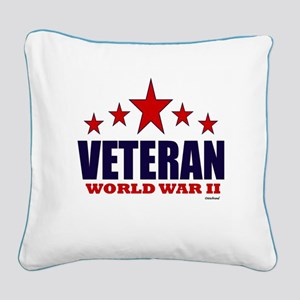 Veteran World War II Square Canvas Pillow