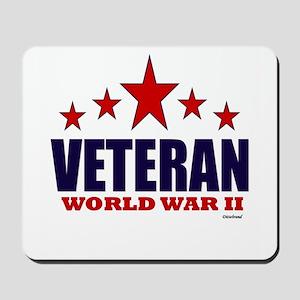 Veteran World War II Mousepad