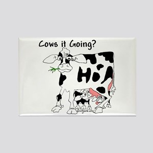 Cartoon Cow Rectangle Magnet