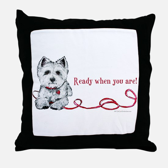 Westhighland White Terrier Re Throw Pillow